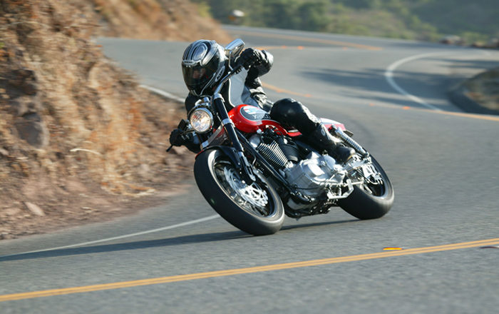 Errores al trazar curvas en moto